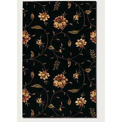 Couristan Lotus Garden 2 x 5 Kamala Scroll Black 0399/0320