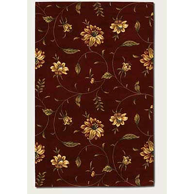 Couristan Lotus Garden 3 x 9 Runner Kamala Scroll Burgundy 0399/0403