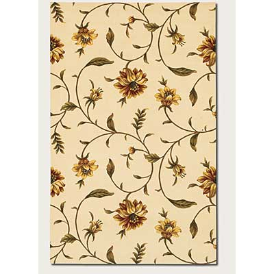 Couristan Lotus Garden 8 x 11 Kamala Scroll Ivory 0399/0586
