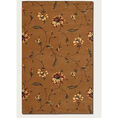 Couristan Lotus Garden 3 x 9 Runner Kamala Scroll Maple 0399/0286