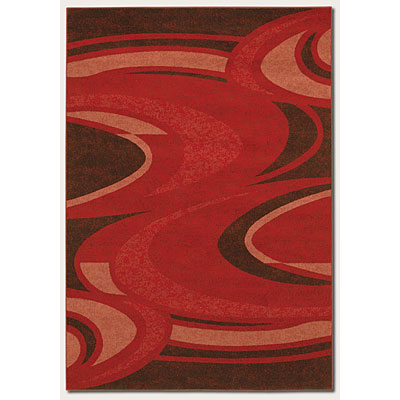 Couristan Metropolis 8 x 11 Saturn Red 1532/9836