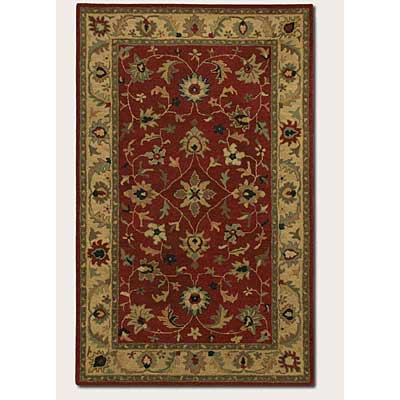 Couristan Nomad 4 x 6 Antique Sarouk Claret Warm Beige 2845/2555