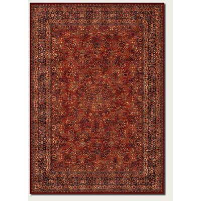 Couristan Old World Classics 2 x 9 Runner Antique Burgundy Navy 1726/3200