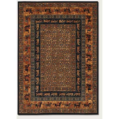 Couristan Old World Classics 7 x 10 Pazyrk Shed Rust 1660/3066