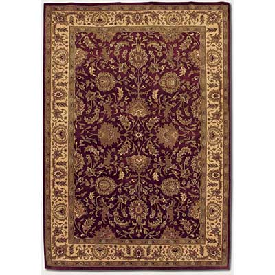 Couristan Orissa 4 x 5 Antique Ispaghan Burgundy Camel 8000/1119