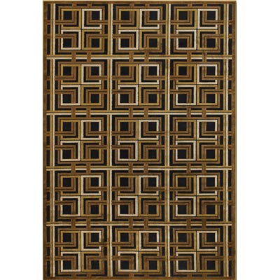 Couristan Pave 5 x 8 Georgian Links Antique Brass Onyx 1223/1105