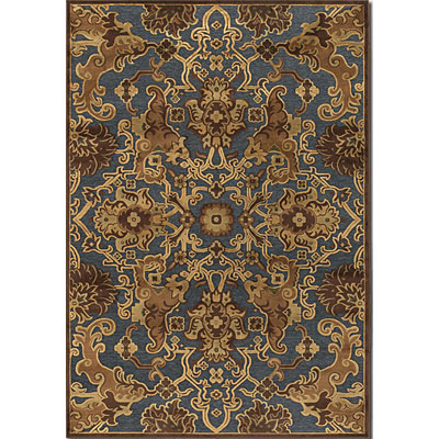 Couristan Pave 4 x 6 Persian Tapestry Steel Blue Bronze 1226/0301