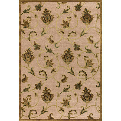 Couristan Pave 8 x 11 Petal Vine Ivory Antique Gold 1227/0130
