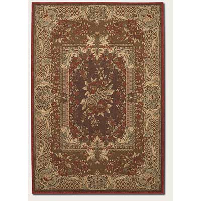 Couristan Pera 3 x 8 Runner Mohul Bouquet Chocolate Sage 2078/0171