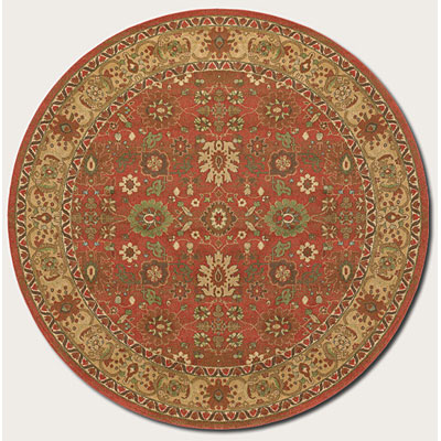 Couristan Pera 8 Round All Over Mashhad Crimson Fawn 2072/0005