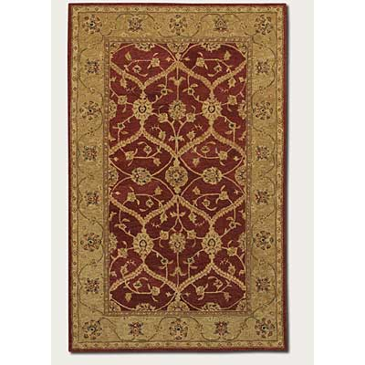 Couristan Persian Romances 8 x 11 Floral Arabesques Ivory Red 2145/6600