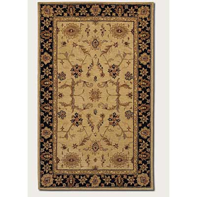 Couristan Persian Romances 8 x 11 Floral Black Ivory 1744/6130