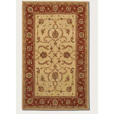 Couristan Persian Romances 8 x 11 Floral Malayer Red Ivory 2144/6590