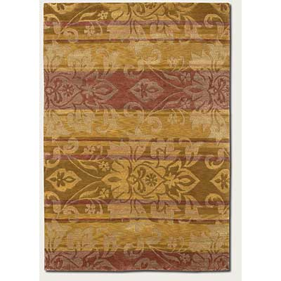 Couristan Pokhara 4 x 6 Abstract Damask Gold 9937/0003