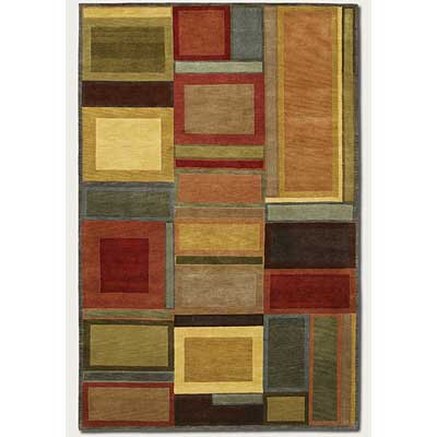 Couristan Pokhara 4 x 6 Iridescent Blocks 9382/0786