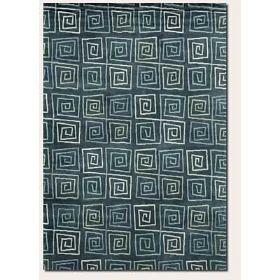 Couristan Pokhara 6 x 8 Serpentine Blue 9950/0120