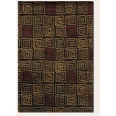 Couristan Pokhara 6 x 8 Serpentine Chocolate 9950/0111