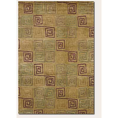 Couristan Pokhara 6 x 8 Serpentine Gold Rust 9950/0145