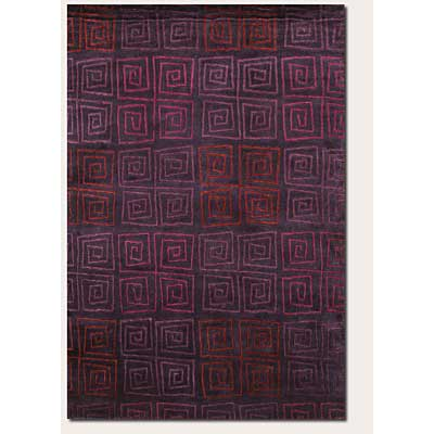 Couristan Pokhara 6 x 8 Serpentine Plum 9950/0131