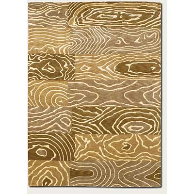Couristan Pokhara 6 x 8 Wood Grain Gold Beige 9931/1100