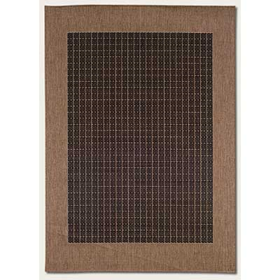 Couristan Recife 5 x 8 Checkered Field Black Cocoa 1005/2000