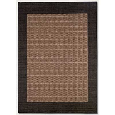 Couristan Recife 6 x 9 Checkered Field Cocoa Black 1005/2500