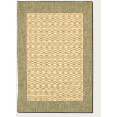 Couristan Recife 5 x 8 Checkered Field Natural Green 1005/5005