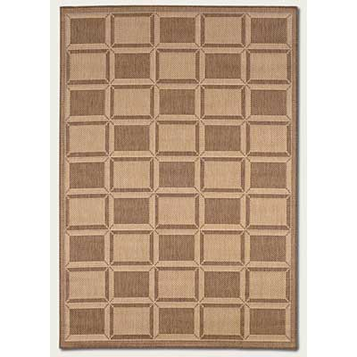 Couristan Recife 2 x 4 Cubic Field Natural Cocoa 1009/3000