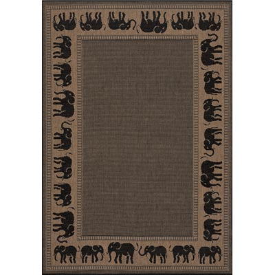 Couristan Recife 8 Round Elephant Cocoa Black 1588/1021