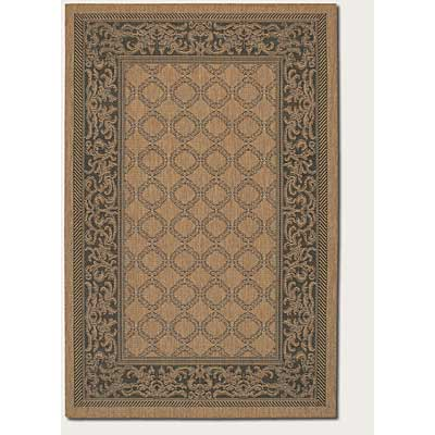 Couristan Recife 8 Round Garden Lattice Cocoa Black 1016/2000