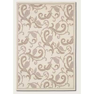 Couristan Recife 2 x 4 Paisley Scroll White Natural 1180/7184