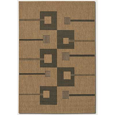Couristan Recife 8 Square Pathway Natural Black 1546/0122
