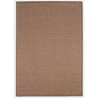 Couristan Recife 8 Square Saddle Stitch Cocoa Natural 1001/1500