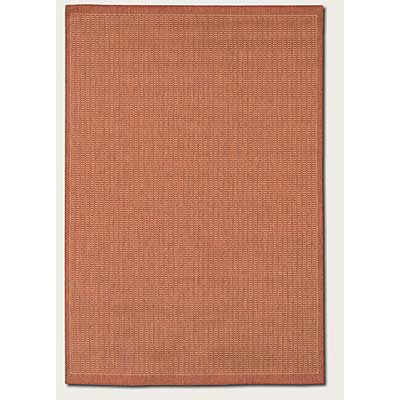 Couristan Recife 8 Round Saddle Stitch Terra Cotta Natural 1001/4000