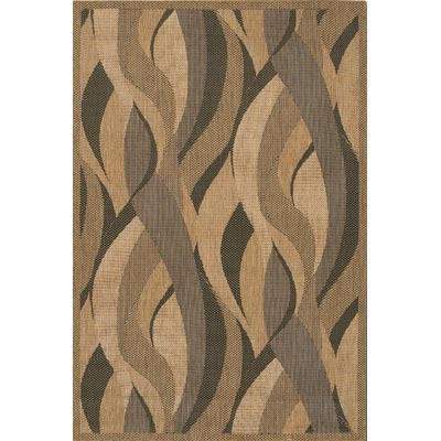 Couristan Recife 8 Square Seagrass Natural Black 1562/0154