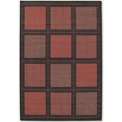 Couristan Recife 8 Square Summit Terra Cotta Black 1043/4000
