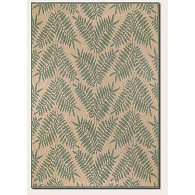 Couristan Recife 2 x 4 Tropical Ferns Green Natural 1515/1812