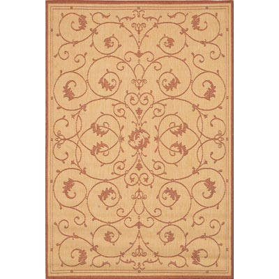 Couristan Recife 8 Square Veranda Natural Terra Cotta 1583/1112