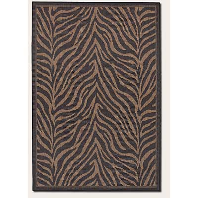 Couristan Recife 5 x 8 Zebra Black Cocoa 1514/0121