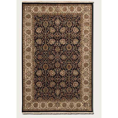 Couristan Royal Imperial 10 x 14 Floral Bijar Black Ivory 3900/0080