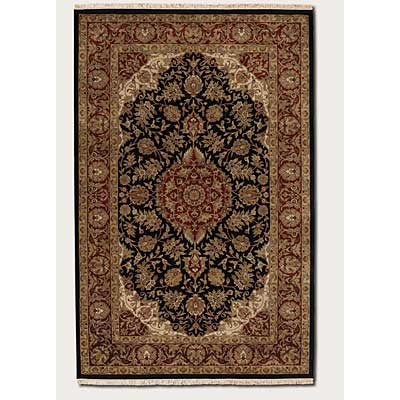 Couristan Royal Imperial 10 x 14 Safavid Black Burgundy 3900/0070