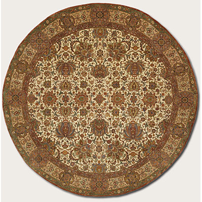 Couristan Royal Imperial 8 ft Round Kochi Ivory 3900/0015
