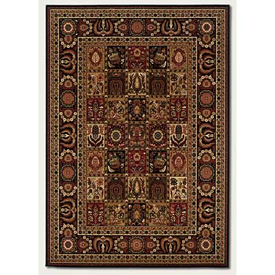 Couristan Royal Kashimar 5 x 7 Antique Nain Black 8199/2599