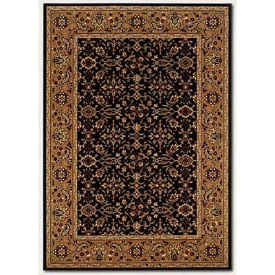 Couristan Royal Kashimar 5 x 7 Ushak Black Deep Maple 8198/2596