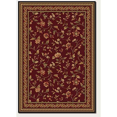 Couristan Royal Luxury 7 x 10 Winslow Bordeaux 1327/0002