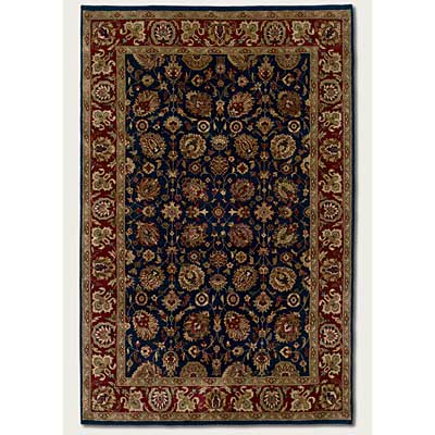 Couristan Shiraz 8 x 11 All Over Floral Midnight Blue 7045/0809