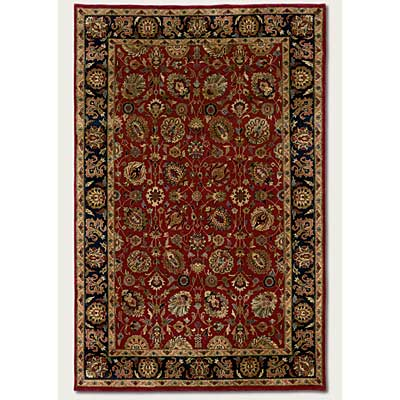 Couristan Shiraz 10 x 13 All Over Floral Persian Red 7045/0810