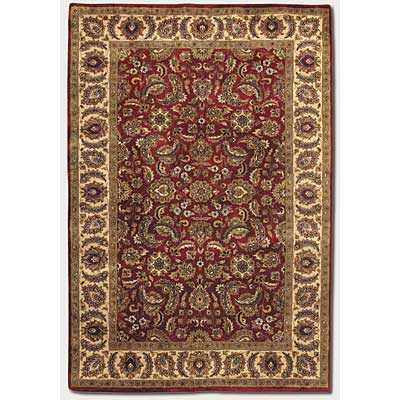 Couristan Shiraz 8 x 11 Floral Mashhad Persian Red 7045/0123