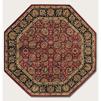 Couristan Shiraz 6 Octagon All Over Floral Persian Red 7045/0810
