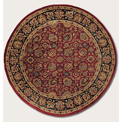 Couristan Shiraz 6 Round All Over Floral Persian Red 7045/0810